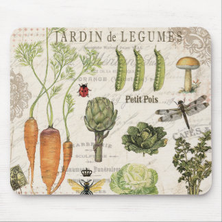 moderner Vintager französischer Gemüsegarten Mousepad
