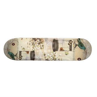 moderner Vintager französischer Vogel botanischen 18,1 Cm Old School Skateboard Deck