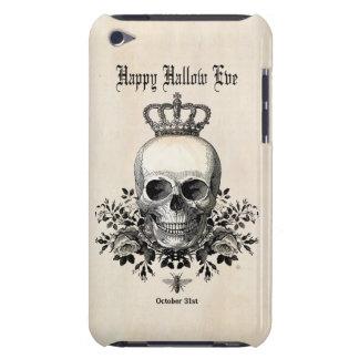 Moderner Vintager Halloween-Schädel mit Krone iPod Case-Mate Hülle