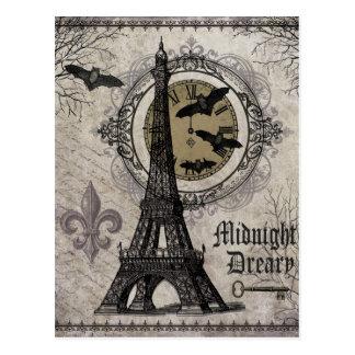 moderner Vintager Turm Franzosehalloweens Eiffel Postkarte
