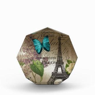 moderner Vintager Turm Paris Eiffel der lila Acryl Auszeichnung