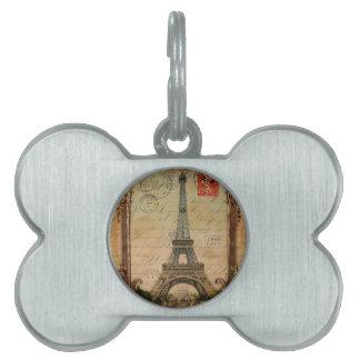 moderner Vintager Turm Paris Eiffel des Tiermarke