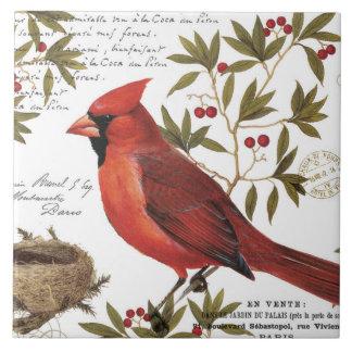 moderner Vintager Winter-Kardinal Fliese