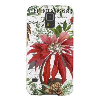 Moderner Vintager Wintergarten mit Blumen Hülle Fürs Galaxy S5