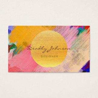 Moderner Watercolor-abstraktes elegantes cooles Visitenkarte