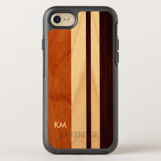 Moderner Woodgrain Stripes das mit Monogramm OtterBox Symmetry iPhone 8/7 Hülle