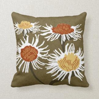 Moderner Wurf der Blüten-Decor#2c u. lumbale Kissen