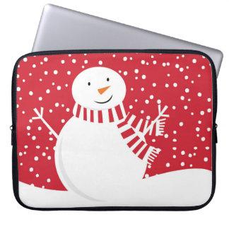 moderner zeitgenössischer roter und weißer laptop sleeve