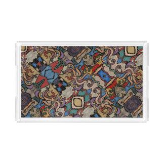 Modernes abstraktes Blumenmuster Acryl Tablett
