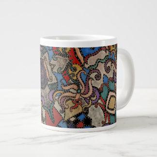 Modernes abstraktes Blumenmuster Collins Jumbo-Tasse