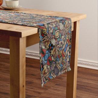 Modernes abstraktes Blumenmuster Kurzer Tischläufer