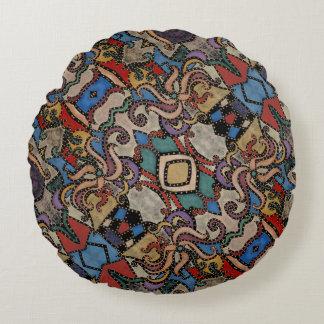 Modernes abstraktes Blumenmuster Rundes Kissen