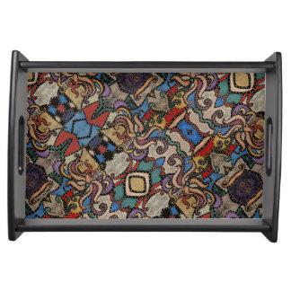 Modernes abstraktes Blumenmuster Tablett