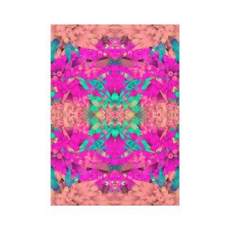 ~ modernes abstraktes Kunst-Entwurf ~ Koralle ~ Leinwanddruck
