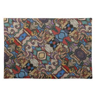 Modernes abstraktes Muster M. Collins Tischset