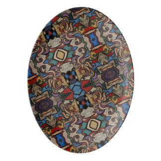 Modernes abstraktes Muster Porzellan Servierplatte