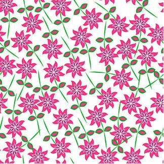 Modernes abstraktes rosa grünes Blumenmuster Freistehende Fotoskulptur