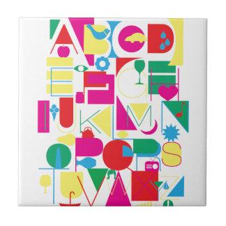 Modernes Alphabet Fliese