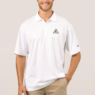 Modernes Anfangsdreieck-Logo-Nike Dri-Sitz Polo Shirt