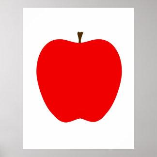 Modernes Apple drucken Poster