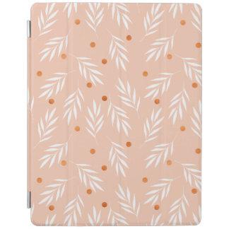 Modernes Aprikosen-Rosa-BlumenBlätter-Muster iPad Smart Cover