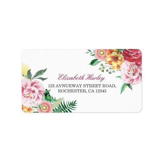 Modernes Aquarell-BlumenBabyparty-Adressen-Etikett Adressaufkleber