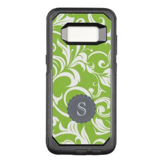 Modernes Avocado-Blumentapeten-Strudel-Monogramm OtterBox Commuter Samsung Galaxy S8 Hülle