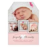 Modernes Baby träumt süße Mädchen-Geburts-Mitteilu
