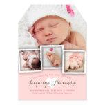 Modernes Baby träumt süße Mädchen-Geburts-Mitteilu Ankündigungskarte