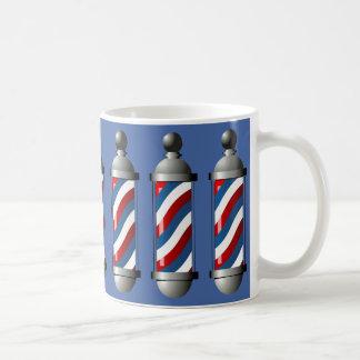 Modernes Barberpoles Kaffeetasse