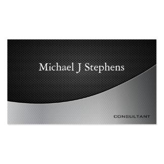 Modernes berufliches schwarzes visitenkarten