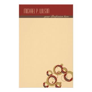 Modernes Blasen-Briefpapier - Beige Personalisierte Druckpapiere