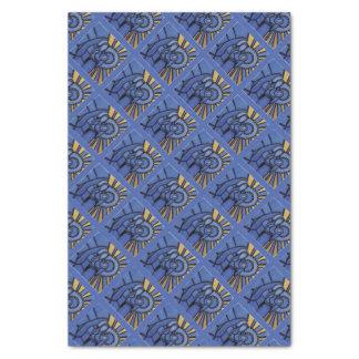 Modernes Blau WeihnachtsGeburt Christis-Jesuss Seidenpapier