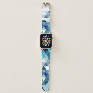 Modernes blaues abstraktes apple watch armband