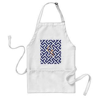 Modernes blaues abstraktes geometrisches Mustermon Schürzen