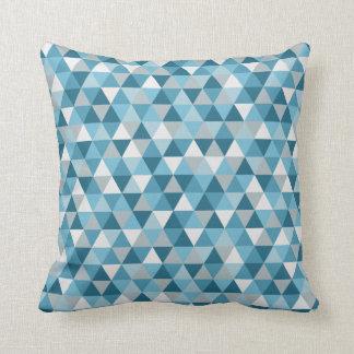 Modernes blaues geometrisches | Wurfs-Kissen Kissen