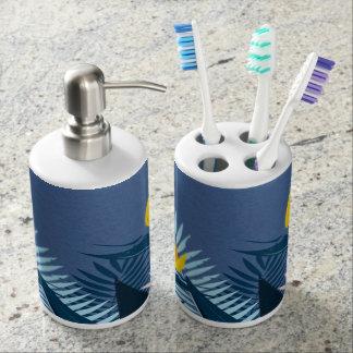 Modernes blaues tropisches Paradies Badezimmer-Set