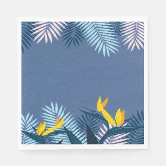 Modernes blaues tropisches Paradies Papierserviette