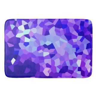 Modernes blaues und lila beflecktes badematte