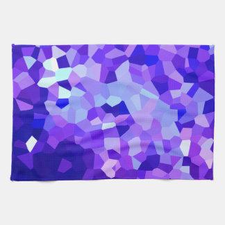 Modernes blaues und lila beflecktes geschirrtuch