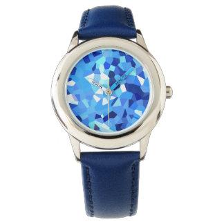 Modernes blaues und Weiß kristallisiertes Armbanduhr