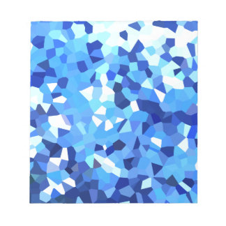 Modernes blaues und weißes Buntglas-Mosaik Notizblock