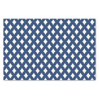 Modernes blaues und weißes Diamant-Seidenpapier Seidenpapier