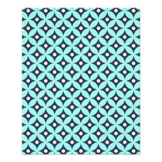 Modernes blaues und weißes Kreis-Tupfen-Muster Flyer