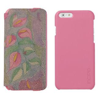 Modernes Blumenmuster gemischt Incipio Watson™ iPhone 6 Geldbörsen Hülle
