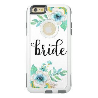 Modernes Braut-SkriptVintager BlumenWatercolor OtterBox iPhone 6/6s Plus Hülle