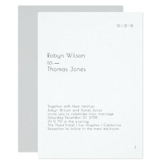 Modernes Buch-Seiten-Hochzeits-Einladungs-12x18 Karte