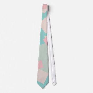 Modernes buntes cyan-blaues und rosa Kastenmuster Bedruckte Krawatten