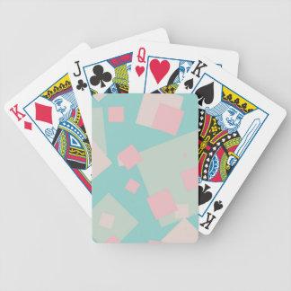 Modernes buntes cyan-blaues und rosa Kastenmuster Bicycle Spielkarten