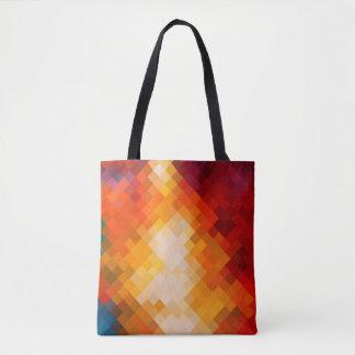 Modernes buntes geometrisches Diamant-Muster #16 Tasche